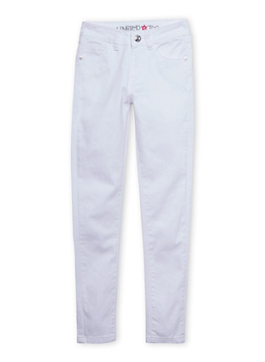 Girls 7-16 Limited Too Dyed Skinny Jeans,WHITE,large