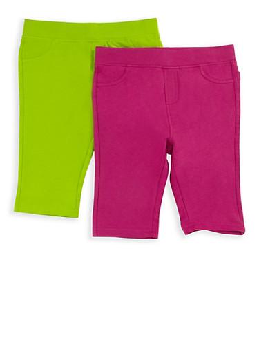 Girls 7-16 Bermuda Shorts Set of 2,LIME/BERRY,large