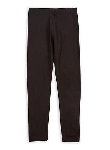 Girls 4-6x Soft Knit Black Leggings,BLACK,large