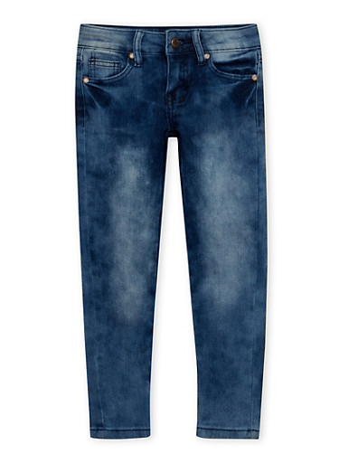 Girls 4-6x Faded Skinny Jeans,DENIM,large