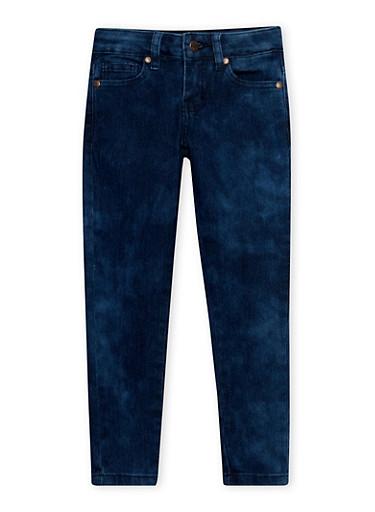 Girls 4-6x Cloud Wash Skinny Jeans,DENIM,large