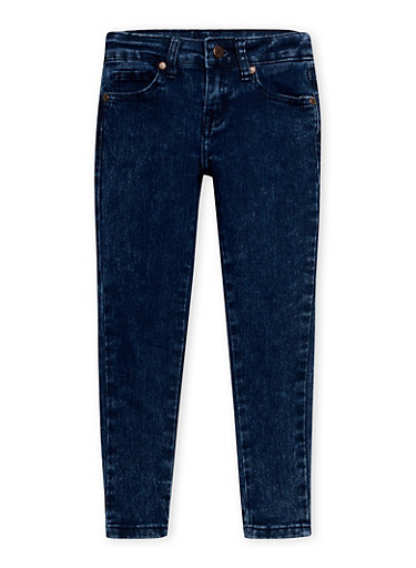 Girls 4-6x Marble Wash Skinny Jeans,DENIM,large