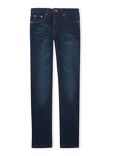 Girls 7-16 Skinny Jeans in Dark Wash,DENIM,large