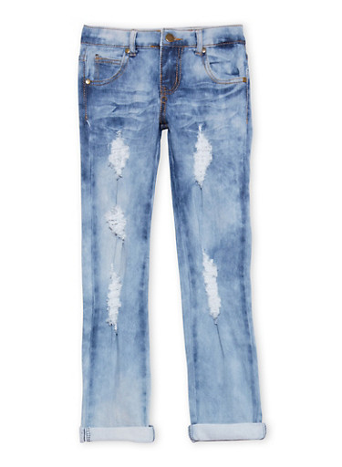 Girls 7-16 Cloud Wash Skinny Jeans,MEDIUM WASH,large