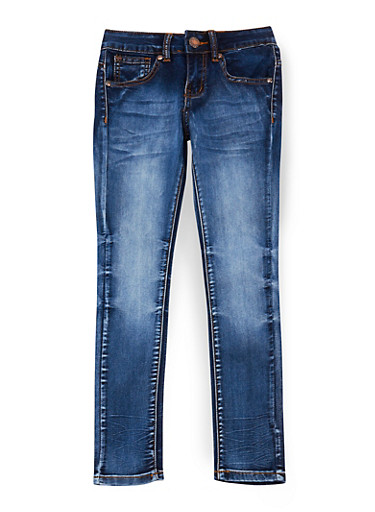 Girls 7-16 VIP Dark Whisker Wash Jeans,DARK WASH,large