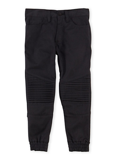 Boys 4-7 Moto Joggers with Five Pockets,BLACK,large