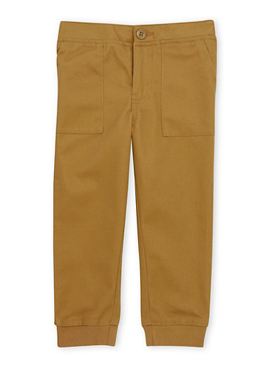 Boys 4-7 French Toast Twill Jogger Pants,BRONZE,large