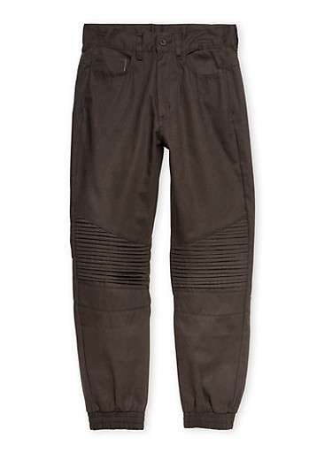 Boys 8-16 Moto Joggers in Twill,BLACK,large