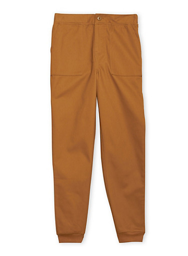 Boys 8-16 French Toast Twill Jogger Pant,BRONZE,large