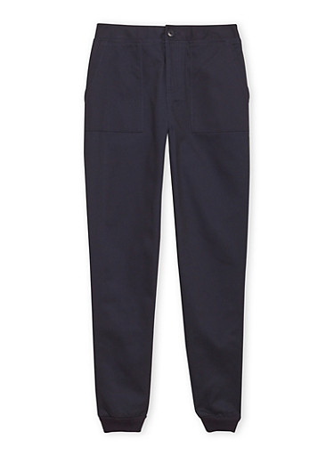 Boys 8-16 French Toast Twill Joggers,NAVY,large