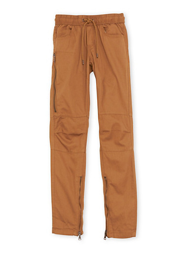 Boys 8-20 Khaki Pants with Zip Ankles,KHAKI,large