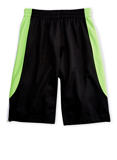Boys 4-7 Mesh Basketball Shorts,BLACK,large