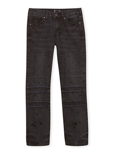 Boys 8-18 Jeans with Panels,BLACK,large