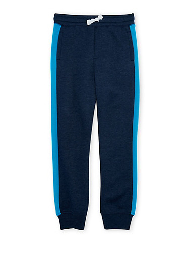 Boys 8-16 French Toast Joggers in Fleece,NAVY,large