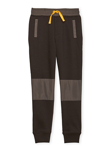 Boys 8-16 French Toast Moto Joggers,BLACK,large