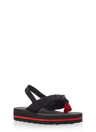 Boys Thong Sandals,BLACK,large