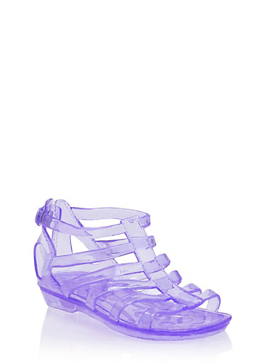 Girls 11-4 Jelly Gladiator Sandals,PURPLE,large