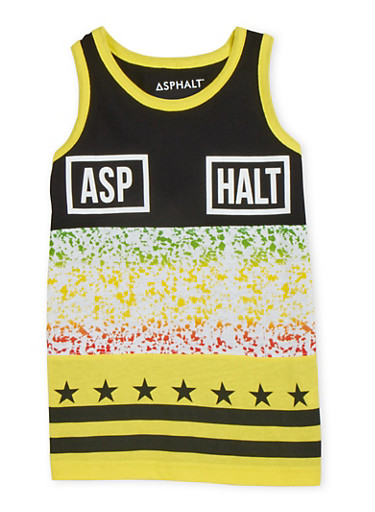 Boys 4-7 Tank Top with Graphic,BLACK,large