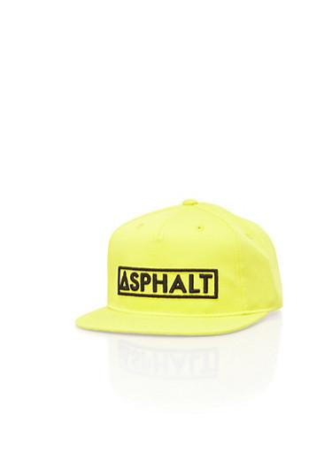 Boys Yellow Asphalt Snapback,YELLOW,large