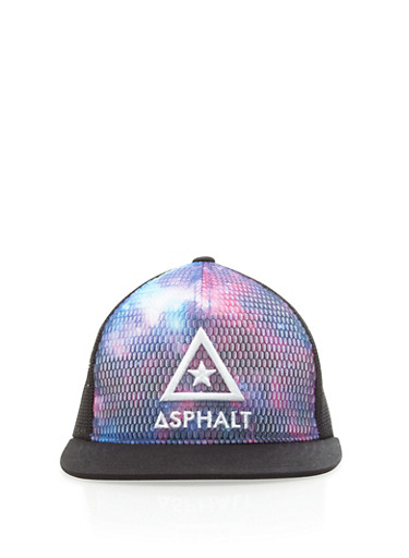 Boys Dip Dye Asphalt Mesh Snapback with Solid Visor,BLACK,large
