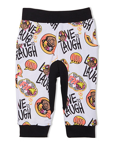Girls 4-6x Trukfit Colorblock Joggers in Abstract Print,WHITE,large
