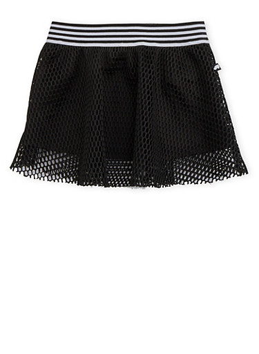Girls 4-6x Trukfit Lined Mesh Skirt,BLACK,large