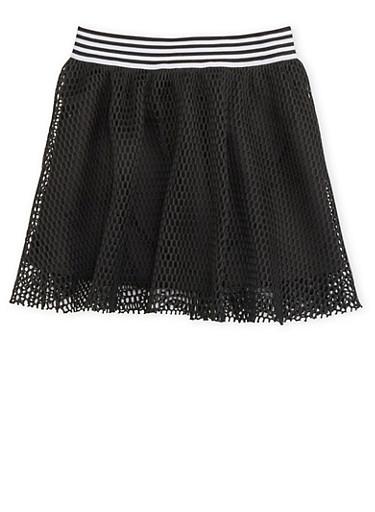 Girls 7-16 Trukfit Mesh Skirt,BLACK,large