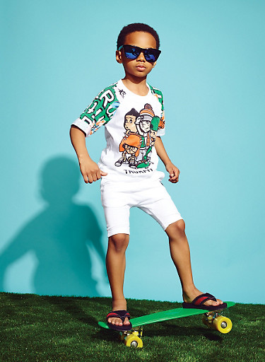 Boys 4-7 Trukfit T-Shirt with Skater Crew Graphic,WHITE,large