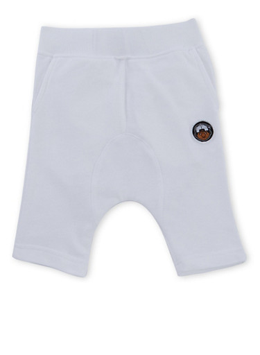Boys 4-7 Trukfit French Terry Shorts with Logo Patch,WHITE,large
