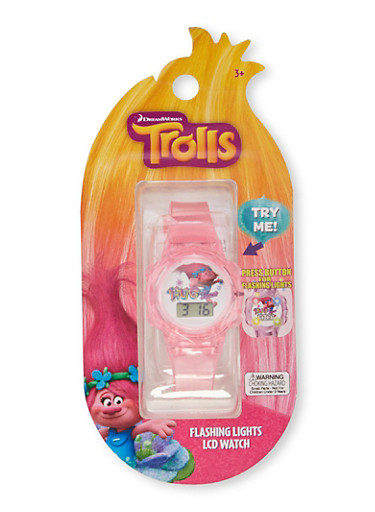 Trolls Hug Time Watch with Flashing Lights,MULTI COLOR,large