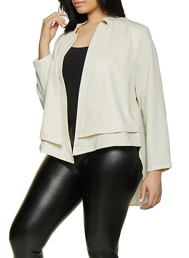 Plus Size Layered Flyaway Blazer