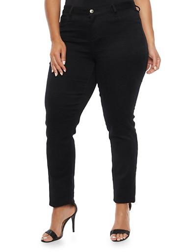 Plus Size Cello Stretch Jeans,BLACK,large
