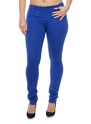 Plus Size Shinestar Skinny Jeans,ROYAL,large