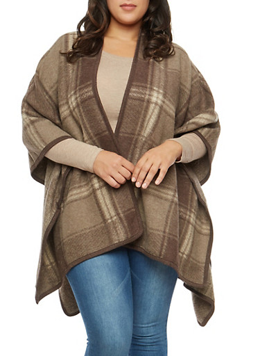 Plus Size Plaid Fleece Shawl at Rainbow Shops in Daytona Beach, FL | Tuggl