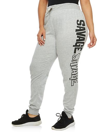 Plus Size Savage Sweatpants,,large