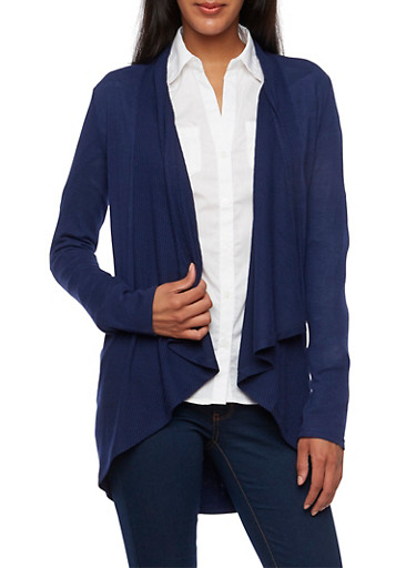 Open-Front Cardigan with Draped Shawl Lapel,ECLIPSE,large