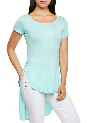 High-Low Top with Side Slits,MINT,large