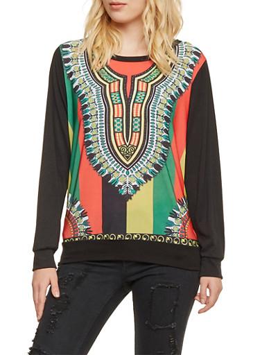 Sweatshirt in Dashiki Print,BRITE,large