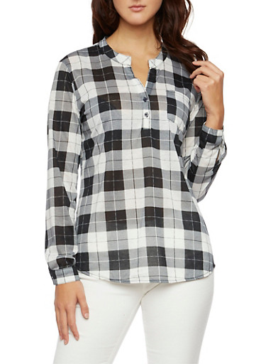 Popover Top in Plaid,PLAID 2,large