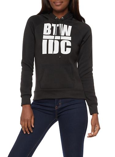 BTW IDC Graphic Hooded Sweatshirt,BLACK,large