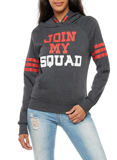 Join My Squad Graphic Hooded Sweatshirt at Rainbow Shops in Jacksonville, FL | Tuggl