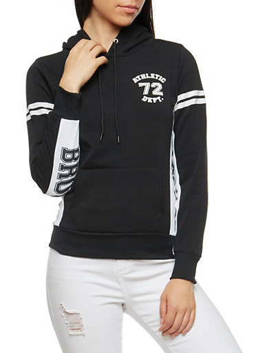 Brooklyn Athletic Graphic Hooded Sweatshirt,BLACK,large