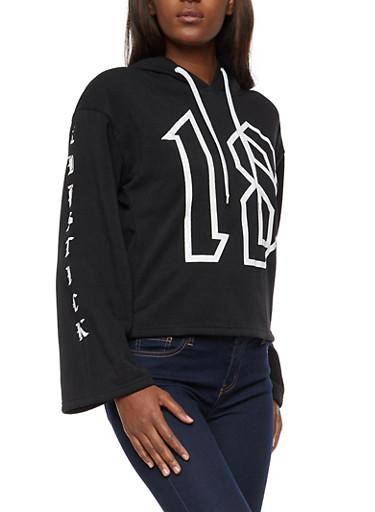 Lipstick Diamond Graphic Oversized Sweatshirt,BLACK,large