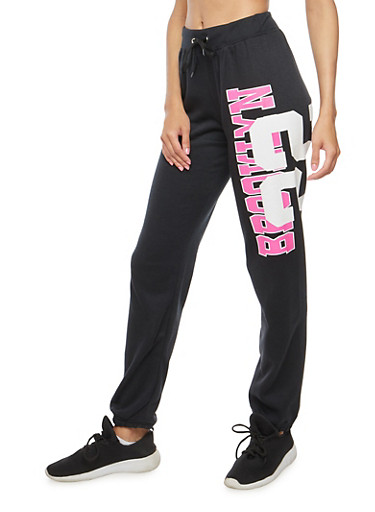 Brooklyn 22 Graphic Sweatpants,BLACK,large