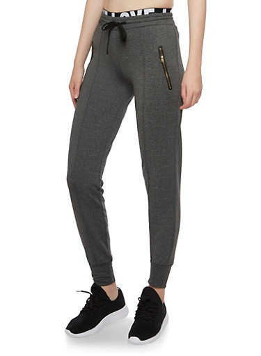 Zipper Pocket Joggers,CHARCOAL,large