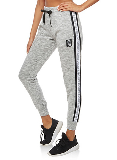 Marled Love Graphic Joggers,HEATHER,large