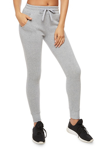 Fleece Joggers,HEATHER,large