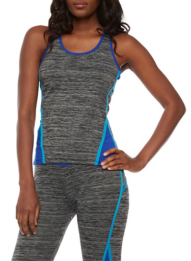 Athletic Racerback Tank Top,CHARCOAL,large