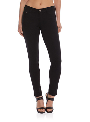 Ponte Pants,BLACK,large