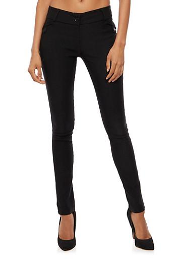 Straight Leg Dress Pants,BLACK,large
